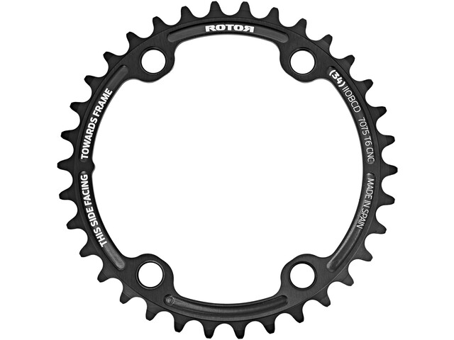 Rotor Inner Chainring BCD110x4 for ALDHU/Shimano Round, negro